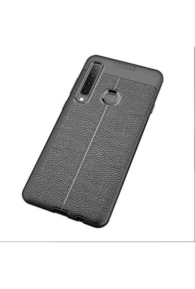 Case 4U Samsung Galaxy A9 2018 Kılıf Darbeye Dayanıklı Niss Arka Kapak Siyah
