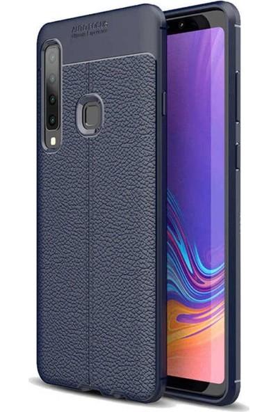Case 4U Samsung Galaxy A9 2018 Kılıf Darbeye Dayanıklı Niss Arka Kapak Lacivert