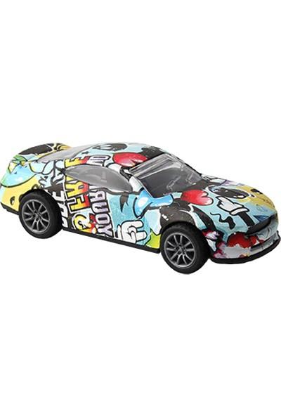 Crasshgo Grafiti 1:43 Metal Spor Araba Çek-Bırak