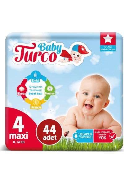 Baby Turco Bebek Bezi 4 Numara Maxi 8-14 Kg 44'lü
