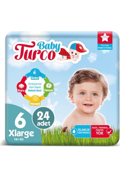 Baby Turco Bebek Bezi 6 Numara Xlarge 16+ Kg 24