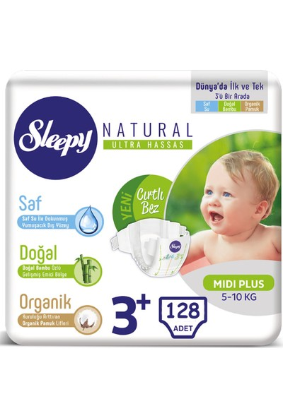 Sleepy Bebek Bezi 3+ Beden 5-10 Kg 4*32 128 5-10 KG