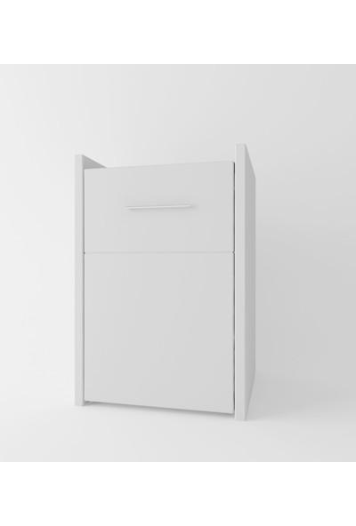 Suhan Concept Lizbon Çekmeceli Komodin Beyaz