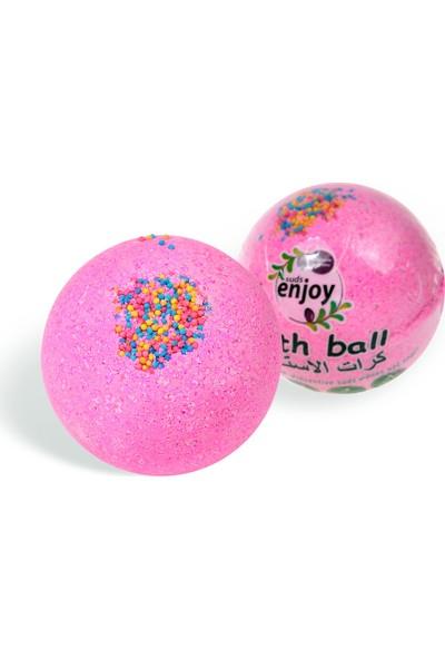 Suds Enjoy Suds Enjoy Banyo Topu Doğal Pembe Düşler El Yapımı Banyo Bombası 100 gr x 2 Adet