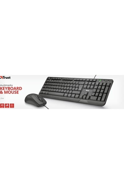 Trust 23383 Kablolu Klavye Mouse Set