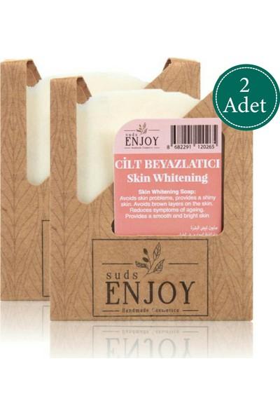Suds Enjoy Doğal Cilt Beyazlatıcı El Yapımı Yüz, Saç ve Vücut Sabunu 100 gr x 2 Adet