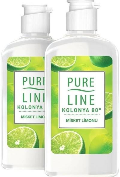 Pure Line Misket Limonu 80 ° Kolonya 250 ml X 2 Adet