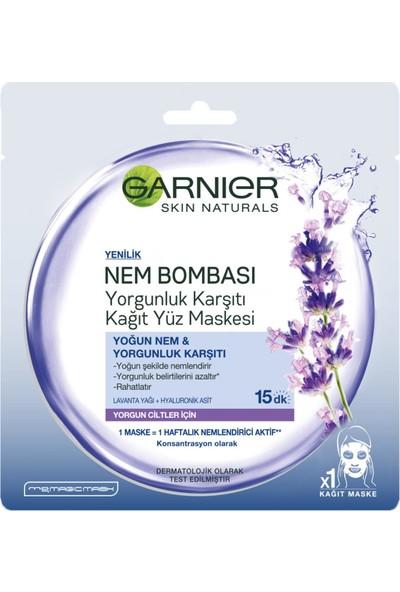 Garnier Nem Bombası Yorgunluk Karşıtı Kağıt Yüz Maskesi