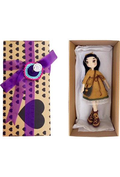 Binbir Baby Postacı Miti Amigurumi Oyuncak Kız Bebek - 39 cm