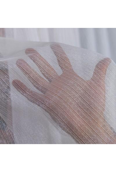 Anıper Tül Perde İnce Çizgili Armür Desen 1'e 3 Pile Sıklığı 80 x 200 cm