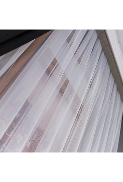 Anıper Tül Perde Grek Zemin Etek Desen 1'e 2 Pile Sıklığı 80 x 200 cm