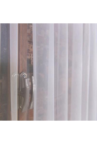 Anıper Tül Perde Grek Zemin Etek Desen 1'e 3 Pile Sıklığı 80 x 200 cm