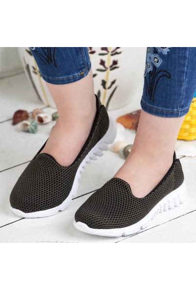 Divamod Memory Foam Akıllı Taban Kadın Gri Ayakkabı