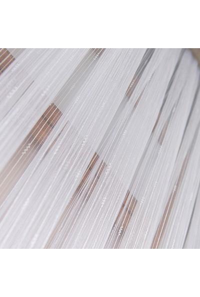 Anıper Tül Perde Kalın Çizgili Örme Desen 1'e 2,5 Pile Sıklığı 80 x 200 cm