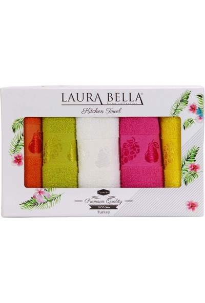 Laura Bella Furits Mutfak Havlusu 5'li 30 x 50 cm