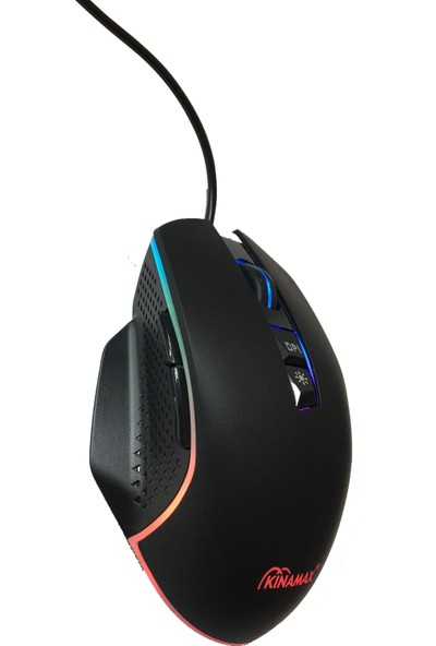 Kinamax KXSGM3889 6400 DPI RGB USB Siyah Oyuncu Mouse 1.5 mt