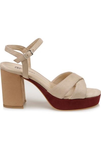 Butigo 20SF-3000 Bej Kadın Topuklu Ayakkabı