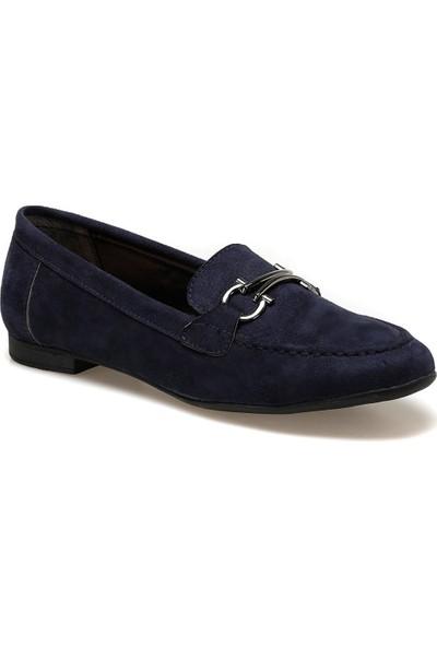 Miss F DS20050 Lacivert Kadın Loafer Ayakkabı