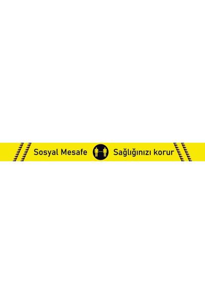 ELF Sosyal Mesafe Uyarı Sticker Şerit 5 Adet