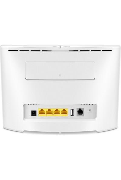 Huawei B525 Çift Bant (2,4 Ghz / 5 Ghz) 3G 4G Modem Router Beyaz