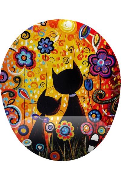 İyi Fikirler Günbatımı ve Kediler Bilek Destekli Mouse Pad