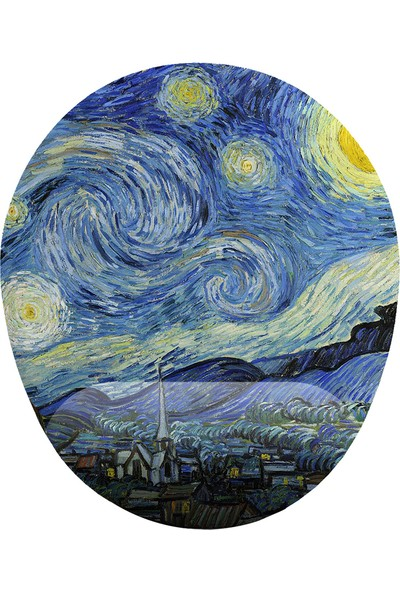 İyi Fikirler Van Gogh Yıldızlı Gece Bilek Destekli Mouse Pad