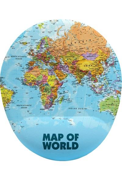 İyi Fikirler Dünya Haritası Bilek Destekli Mouse Pad