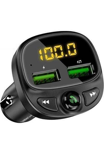 Floveme 3,4A Çift USB Araç Hızlı Şarj ve BT/FM/MP3