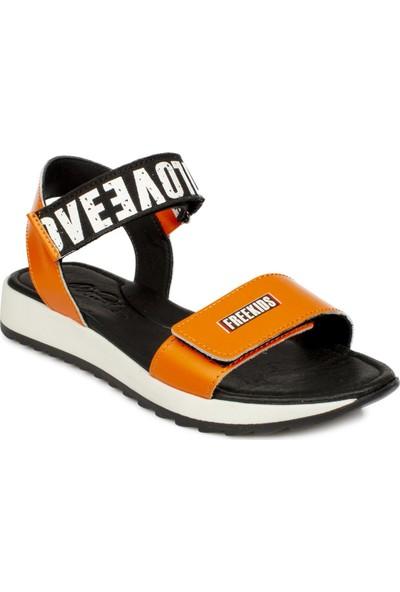 Piarmoni Msm Trend Sandals 2288 Cırtlı Turuncu Çocuk Sandalet