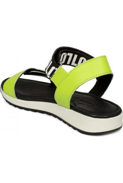 Piarmoni Msm Trend Sandals 2288 Cırtlı Yeşil Çocuk Sandalet