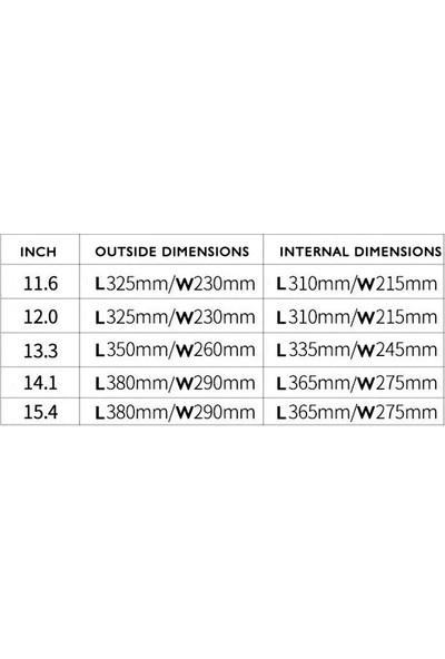 Yukka Su Geçirmez Zarf Tipi Macbook Çantası 11,6 2'li