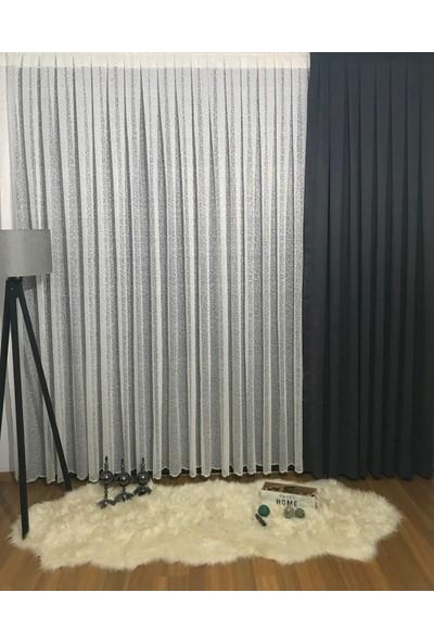 Taç Yağmur Tül Perde 1/3 Pile 100 x 180 cm