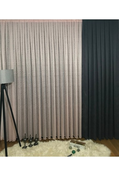 Taç Pudra Tül Perde 1/2 Pile 600 x 180 cm