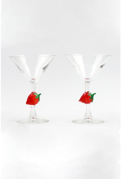 Adamodart Çilek Tasarım Martini Set