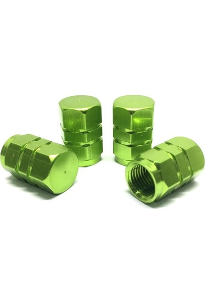 Oto Aksesuarcım Alüminyum Altıgen Sibop Kapağı 4'lü Yeşil