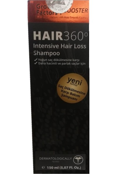 Hair 360 Growth Factors Booster Şampuan 150 ml
