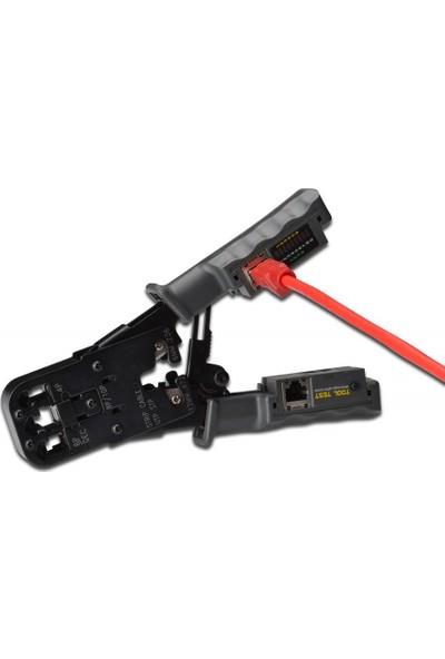 Geoplus DA-HT022 Sıkma Pensesi ve Kablo Tester