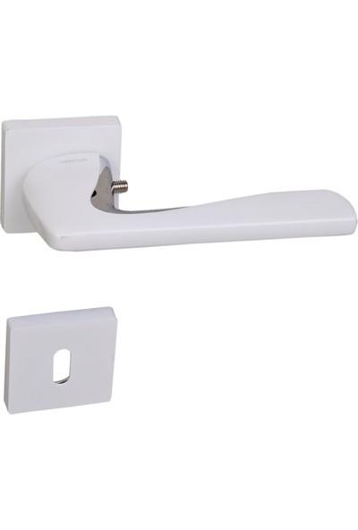 Ventus Kapı Kolu Oda Tipi Krom - Beyaz Metal