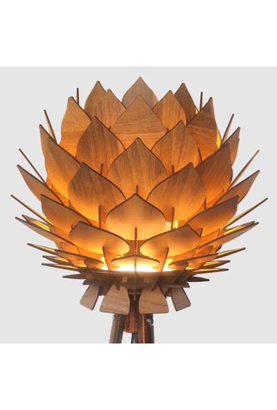 Design Otto Lotus Dekoratif Lambader Şapkası Başlığı Avize Abajur Ceviz