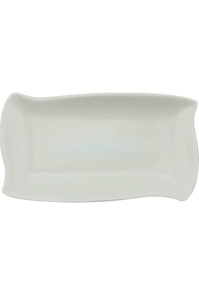 Tekbir 6'lı Porselen Dalgalı Kenarlı Kayık Tabak
