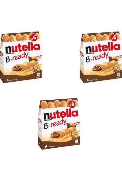 Nutella B-Ready Çikolata 3 Paket 132 gr