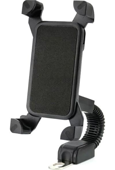 Powerstar Att-27 Motosiklet Ayna Tipi Telefon Tutucu