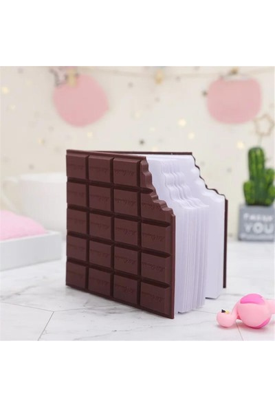 Şeker Ofisi Kokulu Harika Kare Çikolata Not Defteri