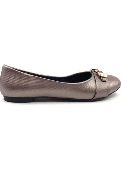 Ceylan Ys6009 Platin Şanel Günlük Bayan Yazlık Babet Ayakkabı