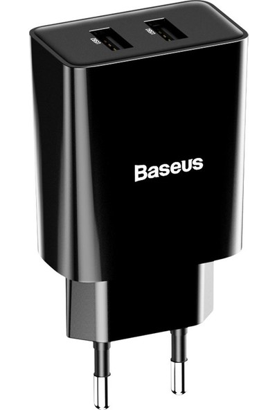 Baseus Speed Mini Dual Seyahat Şarjı 10.5W-Siyah CCFS-R01
