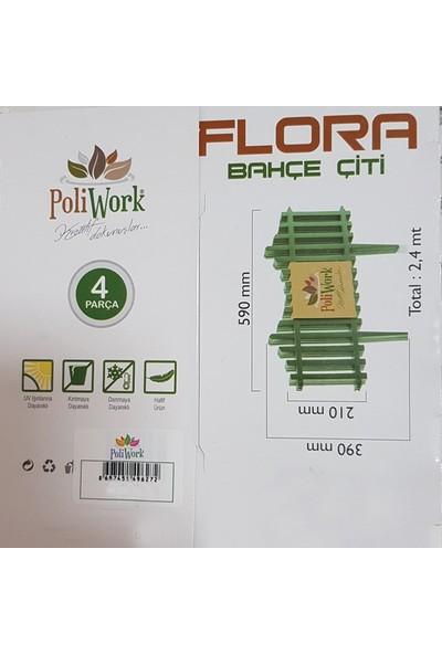 Poliwork 4 Parça Flora Bahçe Çiti 2,4 m