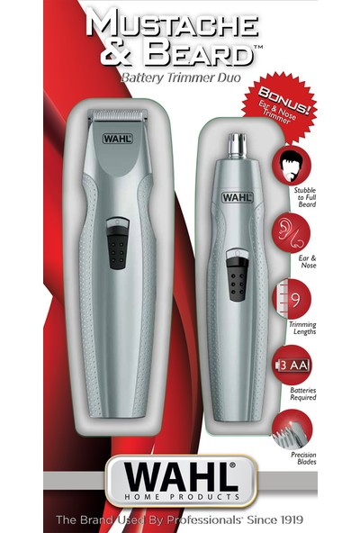 Wahl Mustache & Beard Pilli Sakal Kesme ve Bıyık Düzeltme Makinesi 05606-308