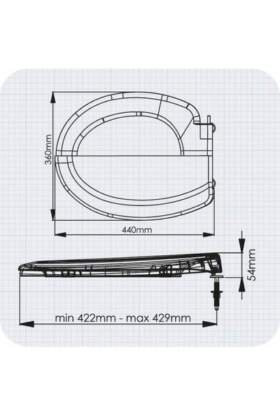 Rona Siyah Tisa Thermoplast Standart Klozet Kapağı (Altan Monte)