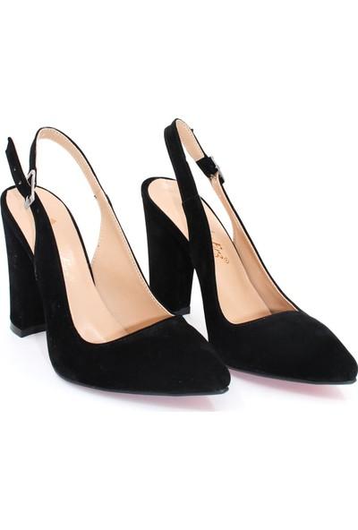 By Erz Kadın Arkası Açık Topuklu Ayakkabı