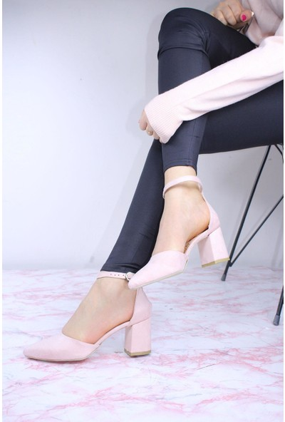 By Erz Kadın Karnıyarık Topuklu Ayakkabı